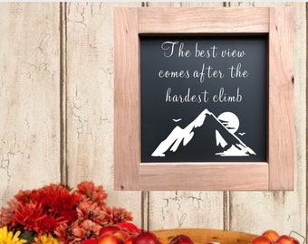 "PAINTED 1/4"" Inlay & Frame/24x24/Signs with Quotes/Signs for Home/Wall Art/Wall Decor/Rustic Home Decor/Quote Prints/Wall Hangings/Fall Sign"