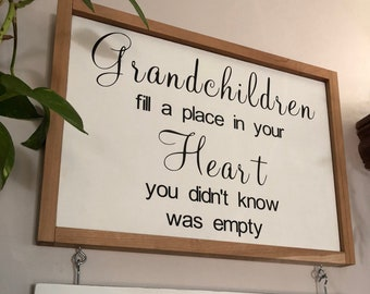 Grandparents Sign with Names/Grandchildren Sign with Name and DOB/Grandparents Gift/Greatest Blessings/Gift for Grandparents/PAINTED 20x14