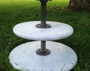 Cupcake Stand/Cake Stand for Weddings/Dessert Tray/wedding Decor/Cupcake Tower/Rustic Decor/Table Decor/Farmhouse Centerpiece/Rustic Tray