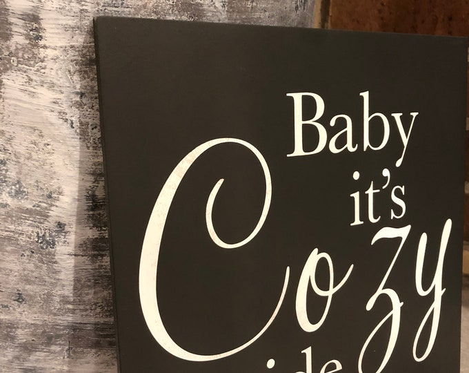 """PAINTED 1/4"""" Inlay/14x14/Signs with Quotes/Signs for Home/Wall Art/Wall Decor/Rustic Home Decor/Quote Prints/Wall Hangings/Fall Sign"""