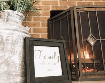 """PAINTED 1/4"""" Inlay & Frame/14x14/Signs with Quotes/Signs for Home/Wall Art/Wall Decor/Rustic Home Decor/Quote Prints/Wall Hangings/Fall Sign"""