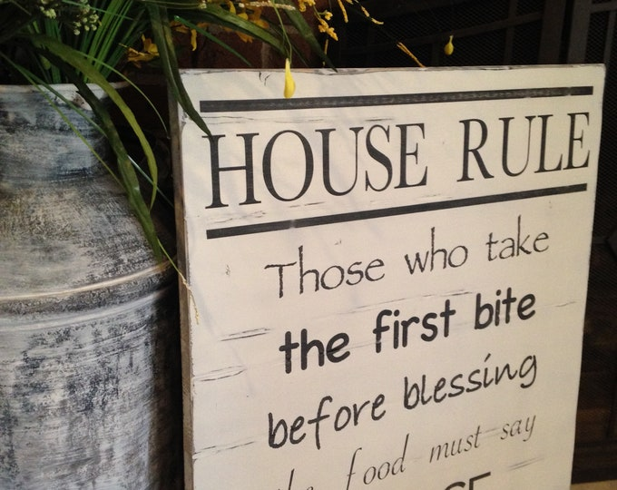 "PAINTED 22""X24""/House Rules/Country Sign/Signs with Quotes/Rustic Sign/Farmhouse/Custom Sign/Decor/Rustic Wall Decor/Shabby Chic/Wall Art"