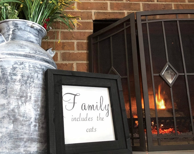 """Featured listing image: PAINTED 1/4"""" Inlay & Frame/24x24/Signs with Quotes/Signs for Home/Wall Art/Wall Decor/Rustic Home Decor/Quote Prints/Wall Hangings/Fall Sign"""