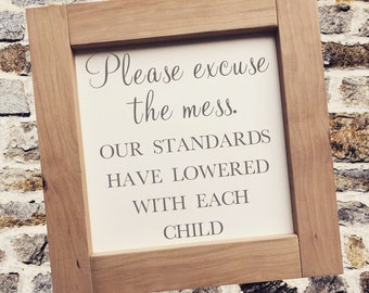"""PAINTED 1/4"""" Inlay & Frame/24x24/Signs with Quotes/Signs for Home/Wall Art/Wall Decor/Rustic Home Decor/Quote Prints/Wall Hangings/Fall Sign"""