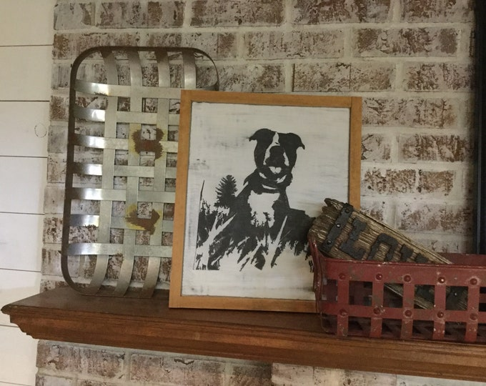 Pet Silhouette Sign|Pet Portrait|Pet Art|Wood Signs|Dog Decor|Farmhouse Decor|Rustic Signs|Farmhouse Wall Decor|Custom Dog Sign