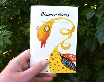 Bizarre Birds Art Zine - Whimsical Watercolour Bird Book