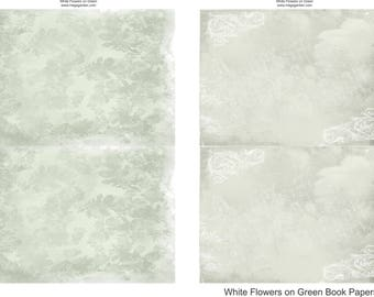 White Flowers on Green Mini Album