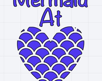 Mermaid At Heart Decal/Sticker Great for Tumbler/Car/Truck/Window/Mirror/Coffee Mug ***AVAILABLE IN 20 COLORS***