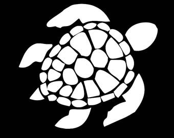 Sea Turtle Sticker/Decal Great for Car/Truck/Window/Mirror/Coffee Mug ***AVAILABLE IN 20 COLORS***