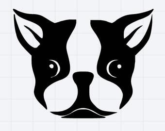 Boston Terrior Decal/Sticker Great for Tumbler/Car/Truck/Window/Mirror/Coffee Mug ***AVAILABLE IN 20 COLORS***