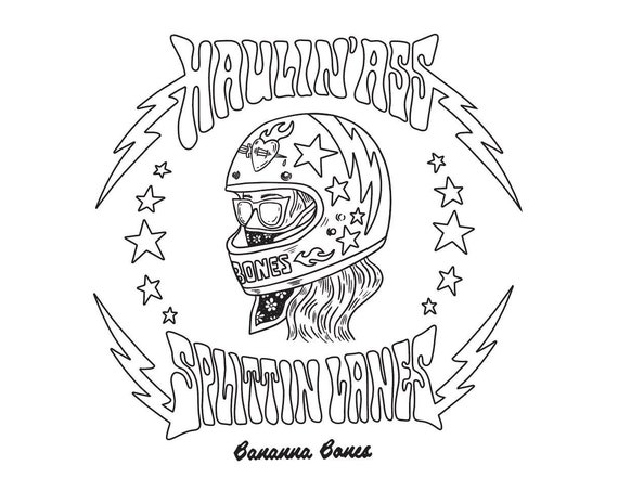 Haulin' Ass Splittin Lanes Coloring Page