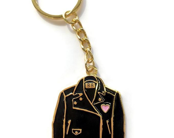 Leather Jacket Keychain
