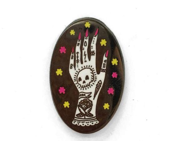 Tattooed Lady Hand Enamel Pin