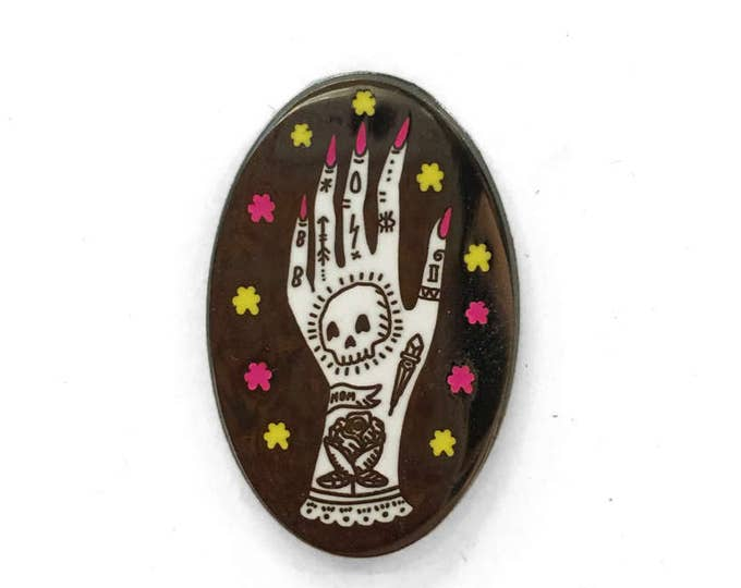 Tattooed Lady Hand Enamel Pin