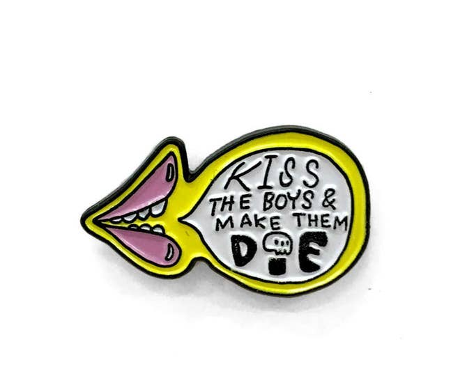 Kiss The Boys Enamel Pin