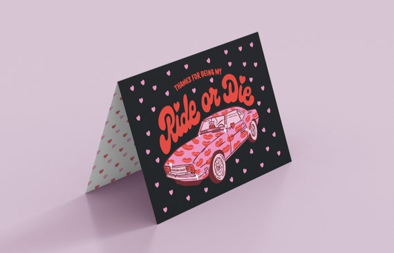 Ride Or Die Card and Button Pack