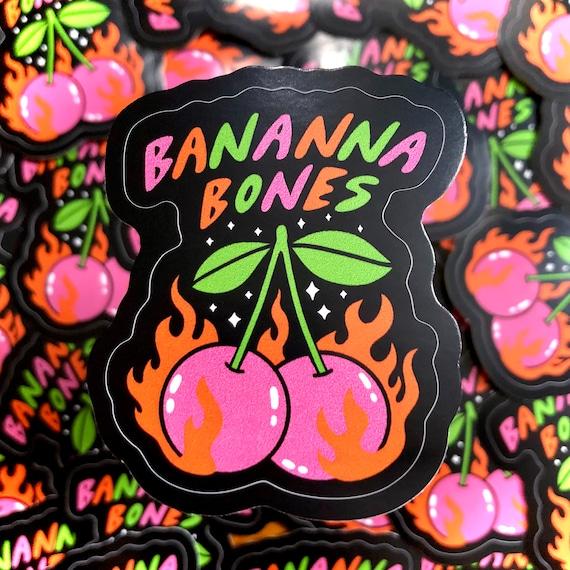 Flaming Cherries Sticker