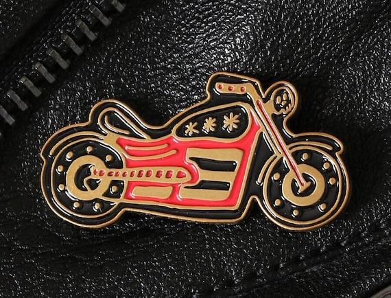 Red Motorcycle Enamel Pin