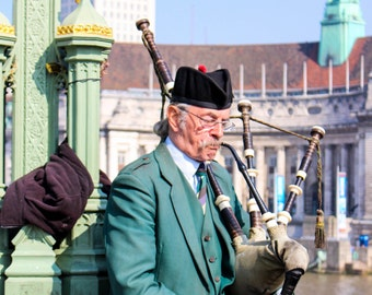 Bagpipes in London - Westminster - London, England