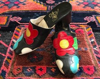 3009a643c29c2 Floral mules | Etsy