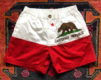 "56d4df76b Vintage Chubbies ""California Republic"" Shorts"