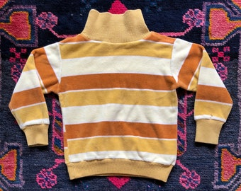 6a0b45840 Vintage 1970s Kids' Velour Turtleneck Long-Sleeve Sweater