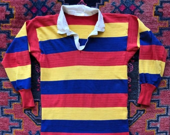 "dcd6ad8b570 Vintage 1960s ""11"" Rugby Jersey"