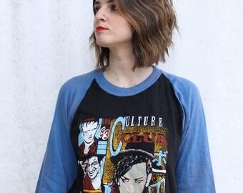 Rare 1980s Culture Club Raglan Shirt