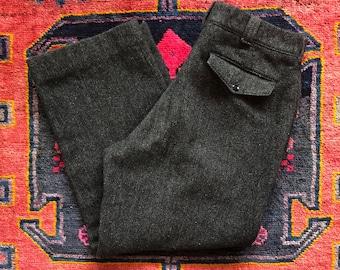03e7888a10eb0 1950/60s L.L. Bean Wool Herringbone Trouser Pants