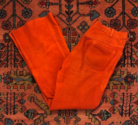 Badass Vintage Women's 1970s Rust Orange Suede Lea