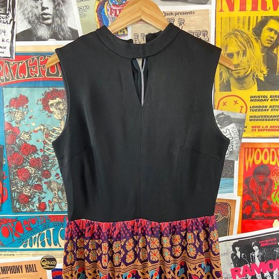 Vintage Women's 1960s-70s Sleeveless Mock Neck Ke… - image 3