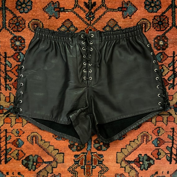 Vintage Women's 1980/90s Schott NYC Leather Lace U