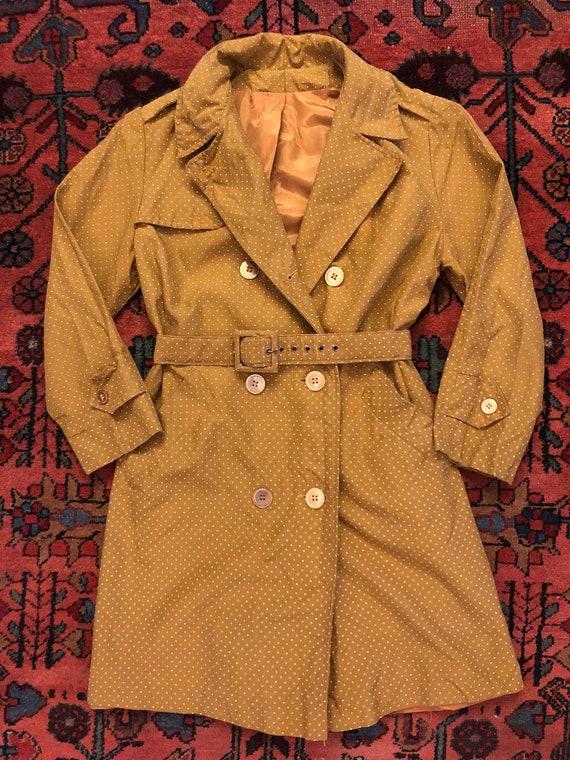 Vintage Women's 1950/60s Mod Polka Dot Belted Peac