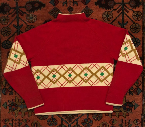 "Vintage 1960s Mod ""Lima"" Mock Neck Ski Sweater"