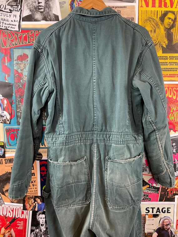Vintage 1940s-50s Powr House Green Lined Zip Up W… - image 7