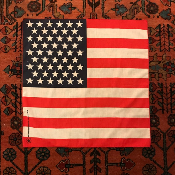 Vintage 1980s USA American Flag Stars + Stripes Ha