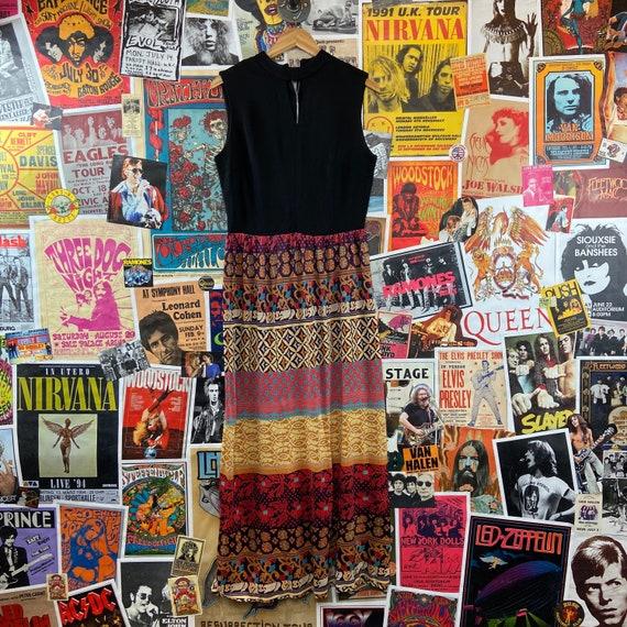 Vintage Women's 1960s-70s Sleeveless Mock Neck Ke… - image 1