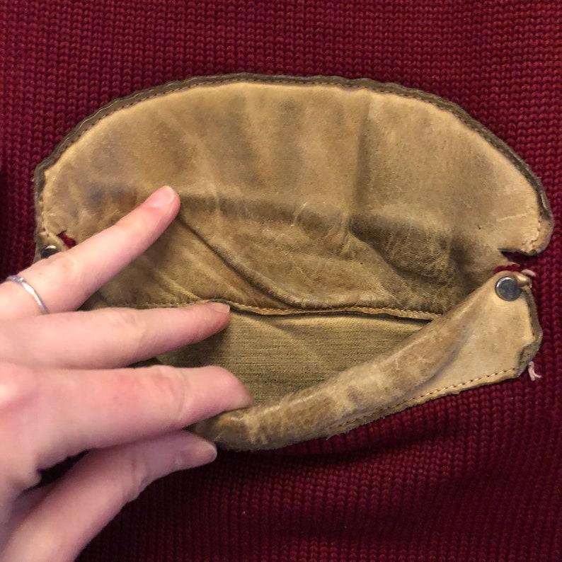 Vintage Men/'s 194050s Skookum Sportswear Wool Knit Leather Shooting Rifle Sweater Jacket
