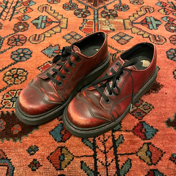 Vintage Women's 1990s Chunky Oxblood Red England … - image 9