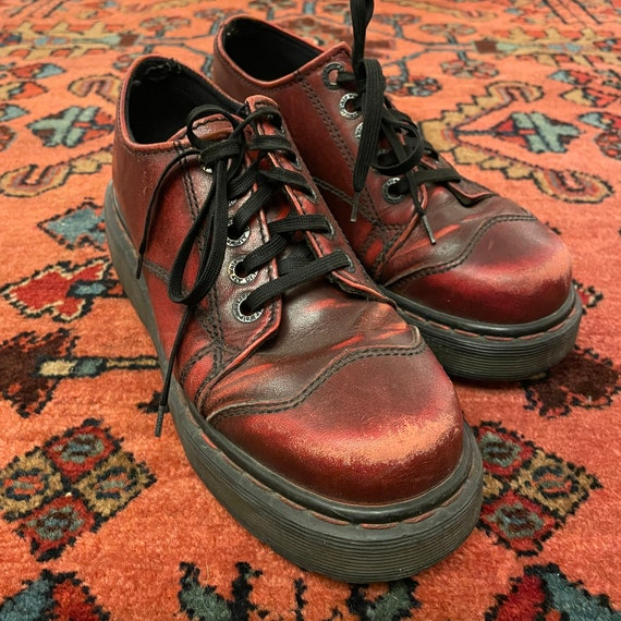 Vintage Women's 1990s Chunky Oxblood Red England … - image 3