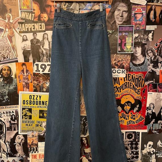 Vintage Women's 1970s High Waisted Wide-Leg 27W De