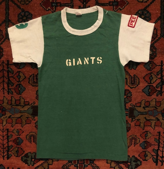 Vintage 1950s Kids Pee Wee Giants Football Russell