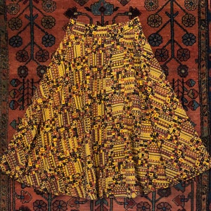 1990s Grey Asymmetrical Gypsy Mystic Hippie Boho Belly Dance Midi Skirt Summer Festival Indian Embroidered Handkerchief Hem Women/'s L