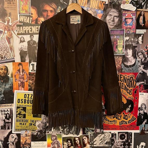 Vintage 1970/80s Brown Fringe Pioneer Wear Leather