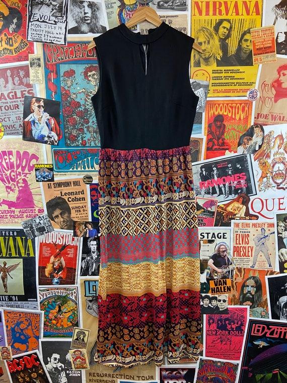 Vintage Women's 1960s-70s Sleeveless Mock Neck Ke… - image 6