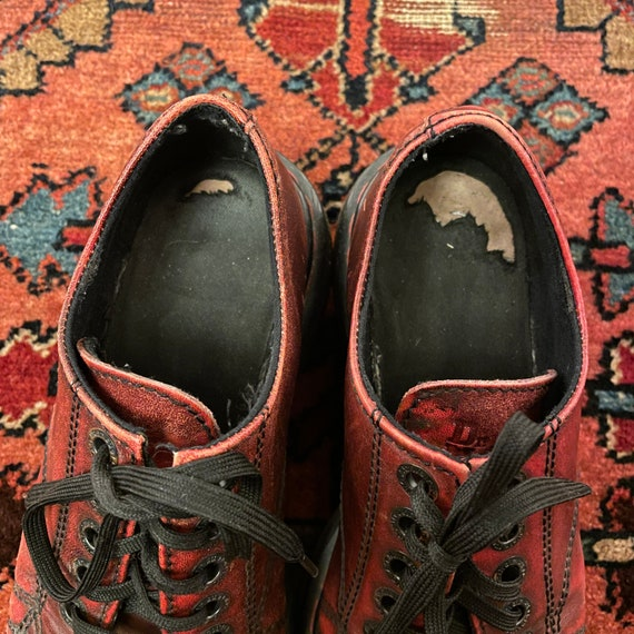 Vintage Women's 1990s Chunky Oxblood Red England … - image 7