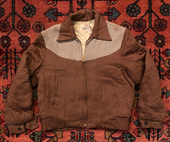 Vintage Kids 1940s Campus Sportswear Brown Houndst