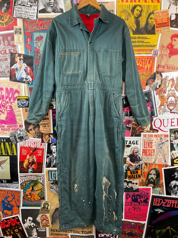 Vintage 1940s-50s Powr House Green Lined Zip Up W… - image 2