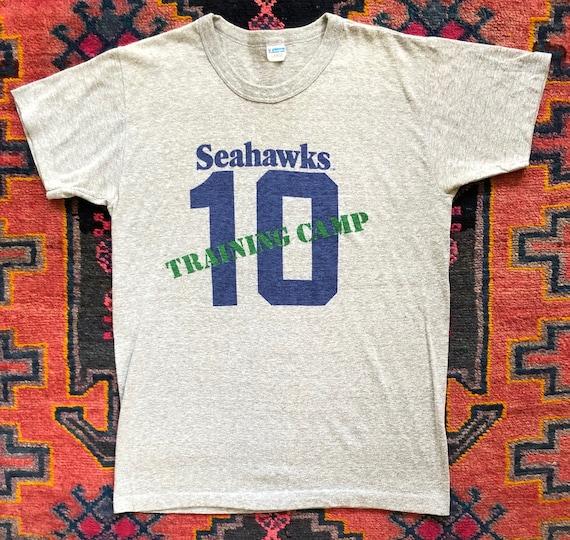 """Soft Vintage 1970s Seattle Seahawks """"10"""" Training"""
