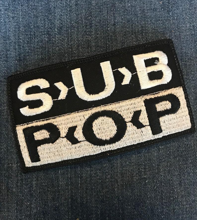 59ecc095 Original Vintage NOS 90s Sub Pop Record Label Logo Patch   Etsy